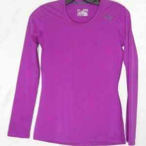 Under Armour Fitted heat gear LS xs Purple